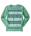 Brothers Boys Holiday Sweater Graphic T-Shirt