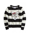 Justice Girls Striped Critter Knit Sweater 610 5