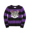 Justice Girls Striped Critter Knit Sweater 673 5