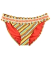 Lucky Brand Womens Striped Bikini Swim Bottom