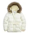 Justice Girls Faux Fur Puffer Jacket
