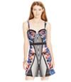 Material Girl Womens Fit & Flare Print Tank Dress