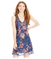 Material Girl Womens Floral Lace Fit & Flare A-Line Dress