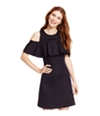 Material Girl Womens Ruffled Fit & Flare A-Line Dress