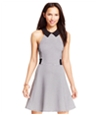 Material Girl Womens Collared Illusion A-Line Dress