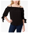 Bcx Womens Tie-Sleeve Off The Shoulder Blouse