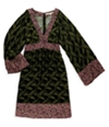 Rachel Roy Womens Colorful Trim Empire Dress