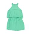 Bar Iii Womens Cutout Popover Blouson Dress
