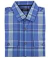 Alfani Mens Ss Plaid Button Up Shirt