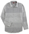 Alfani Mens Rwenens Blocked Stripe Button Up Shirt
