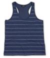 Ecko Unltd. Womens Stripe Crochet Mesh Racerback Tank Top