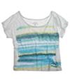 Ecko Unltd. Womens Open Neck Painted Stripe Graphic T-Shirt