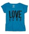Ecko Unltd. Womens Open Nk Love Ss Graphic T-Shirt