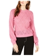 Leyden Womens Diamond Cable Knit Sweater