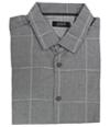 Alfani Mens Windowpane Button Up Shirt
