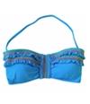 Lucky Brand Womens Fiesta Side Bandeau Swim Top