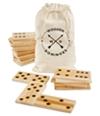 Refinery Unisex Jumbo 28-Pc. Wooden Block Dominoes Tile Games