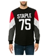 Staple Mens The Rivers Long Sleeve Embellished T-Shirt