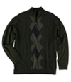 Alfani Mens Argyle 1/4 Zip Knit Sweater