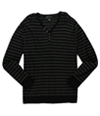 I-N-C Mens Striped Henley Sweater