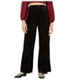 Leyden Womens Velvet Pleated Casual Trouser Pants