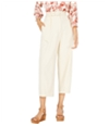 Leyden Womens Paper Bag Casual Cropped Pants