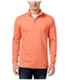 Club Room Mens Quarter-Zip Sweatshirt melonburst S