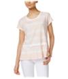 Style & Co. Womens Peplum Basic T-Shirt