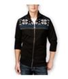 Club Room Mens Sherpa-Lined Fz Knit Sweater
