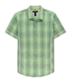 I-N-C Mens Check Slim Fit Button Up Shirt