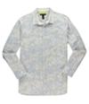 I-N-C Mens Slim-Fit Print Button Up Shirt