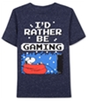 Peanuts Boys I'd Rather Be Gaming Graphic T-Shirt