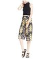 Material Girl Womens Chevron Gaucho Pants