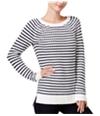 Maison Jules Womens Striped Knit Sweater
