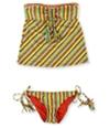 Lucky Brand Womens Santiago Side Tie 2 Piece Tankini