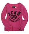 Ecko Unltd. Womens French Terry Satin Knit Sweater