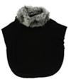 Style & Co. Womens Dolman Faux Fur Poncho Sweater