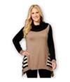 Style & Co. Womens Colorblocked Handkerchief-Hem Pullover Sweater