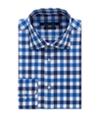 Sean John Mens Classic-Fit Plaid Button Up Dress Shirt