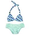 Bar Iii Womens Hexagon Side Tab 2 Piece Bikini