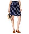 Maison Jules Womens Striped Circle A-Line Skirt