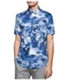 Calvin Klein Mens Fractured Dressy Refined Button Up Shirt