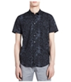 Calvin Klein Mens Fractured Button Up Shirt
