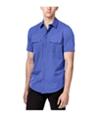Calvin Klein Mens Two-Pocket Ss Button Up Shirt