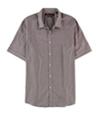 Perry Ellis Mens Slim Fit Mini Check Button Up Shirt