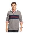 Izod Mens Quarter-Zip Striped Sweatshirt