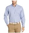 Izod Mens Breeze Plaid Button Up Shirt