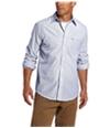 Izod Mens Striped Essential Button Up Shirt
