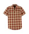 G.H. Bass & Co. Mens Textured Ss Button Up Shirt