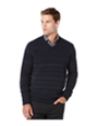 Perry Ellis Mens Striped V Neck Pullover Sweater
